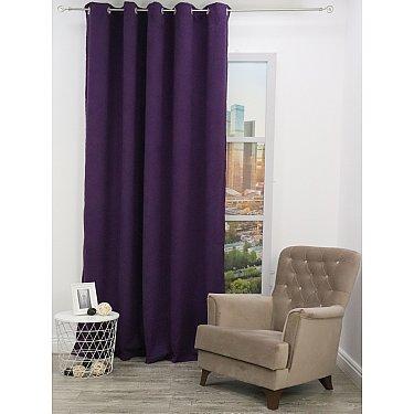 Шторы вельвет Amore Mio RR Canvas-569, фиолетовый, 200*270 см
