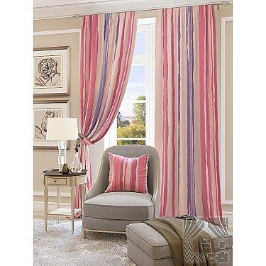 """Комплект штор """"Мината"""", розовый-A"""
