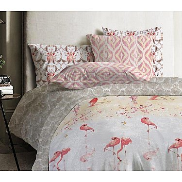 КПБ ранфорс Mona Liza Japanese Flamingo Flamingo