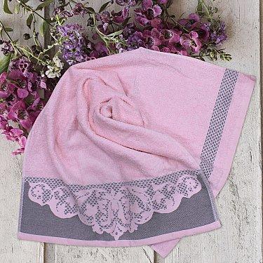 Полотенце с жаккардом Leys, розовый