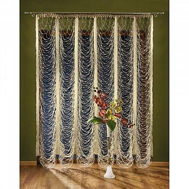 Кисея нитяная штора Wisan на ленте, Кремовый, 460*250 см