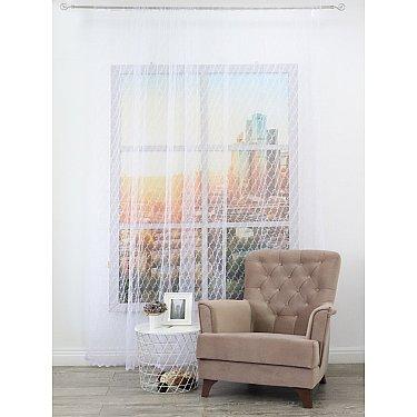 Тюль вышивка эконом Amore Mio RR 36262-w, белый, 300*270 см