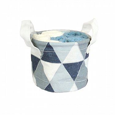 Комплектиз 6-ти полотенец Arya Geo (30*30 см), кремовый, голубой