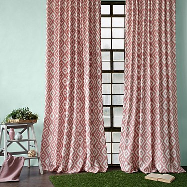 """Комплект штор """"Алан"""", розовый, 170*270 см"""