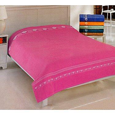 Простынь махровая Rose Cotton, розовая