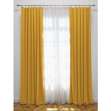"Комплект штор с подхватами ""Блэкаут"", желтый"
