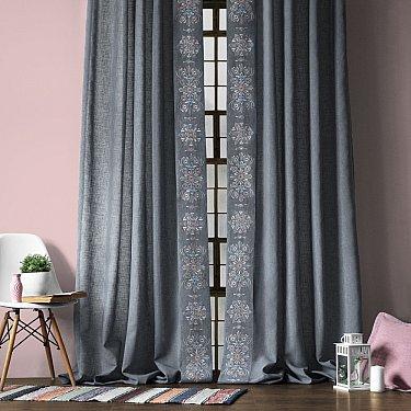 """Комплект штор """"Шейн"""", серый, 145*270 см"""