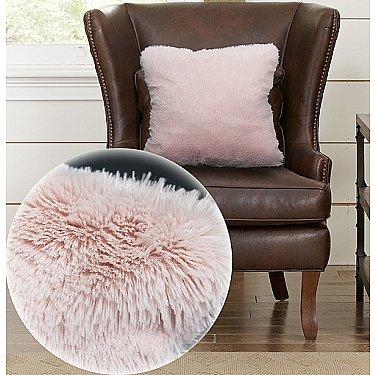 Подушка декоративная Buenas Noches Длинный ворс Мягкий мех, розовый