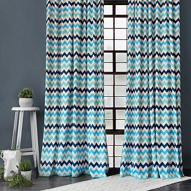 "Комплект штор ""Майкл"", синий, 170*270 см"