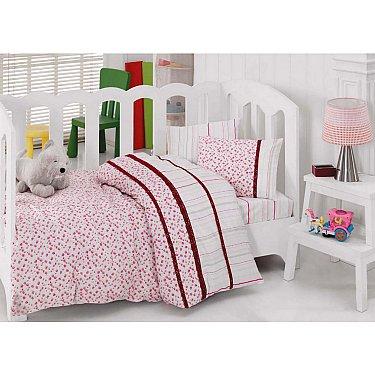КПБ Cotton Box Ясли Ранфорс с вышивкой дизайн 06 (Новорожденный)