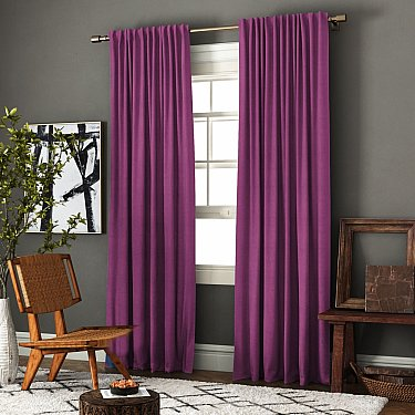 """Комплект штор """"Ибица"""", фиолетовый"""