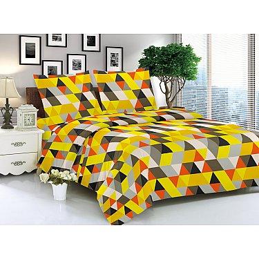 КПБ мако-сатин печатный Vitold (2 спальный), желтый