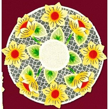 """Салфетка """"Подсолнухи"""" №54943-40 у, бежевая, желтая, 40 см"""