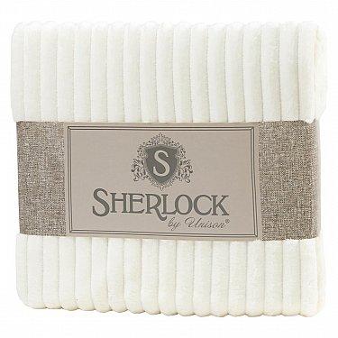 Плед микрофибра рельеф 'Sherlock' молочный
