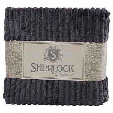 Плед микрофибра рельеф 'Sherlock' стальной