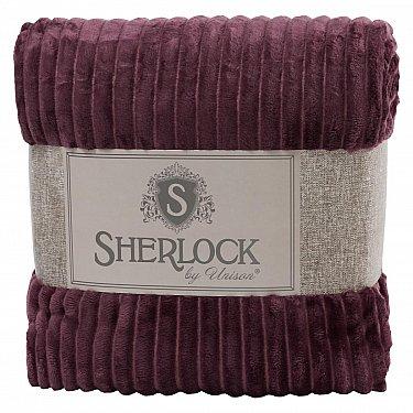Плед микрофибра рельеф 'Sherlock' брусника