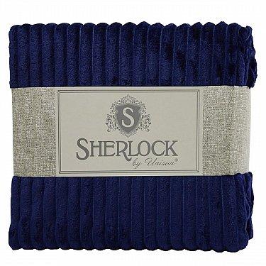 Плед микрофибра рельеф 'Sherlock' темно-синий