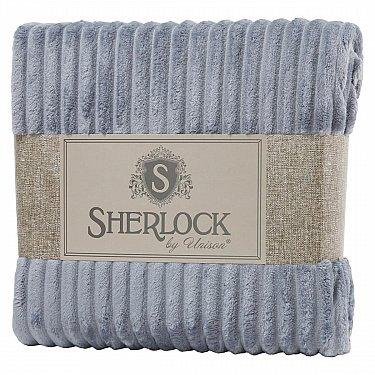 Плед микрофибра рельеф 'Sherlock' серебро