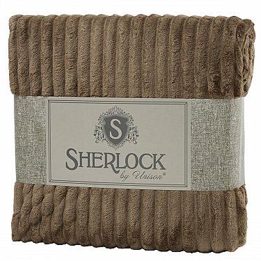 Плед микрофибра рельеф 'Sherlock' латте