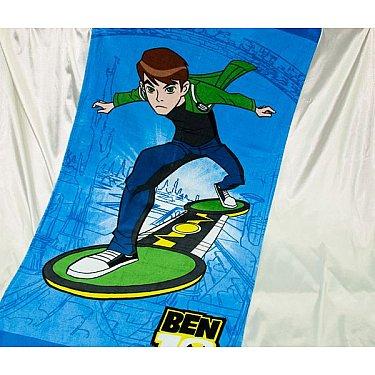 Пляжное полотенце Ben, 75*150 см, зеленый, голубой