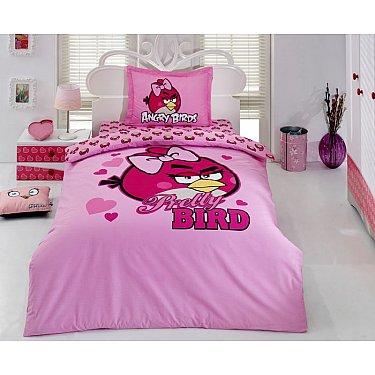 КПБ Детский Ранфорс VS Angry birds дизайн 02 (1.5 спальный)