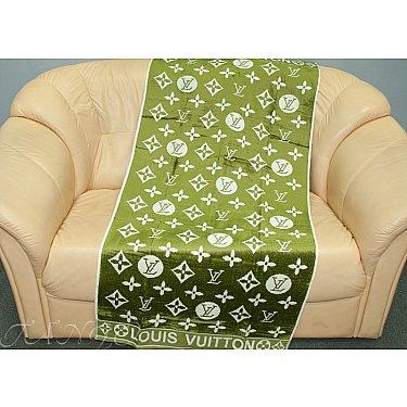 Банное велюровое полотенце Cestope LV жаккард, 70*140 см, зеленый