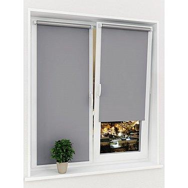 Рулонная штора ролло блэкаут Sola Д-2, серый