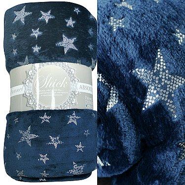 "Плед фланель Absolute ""Stars"", синий"