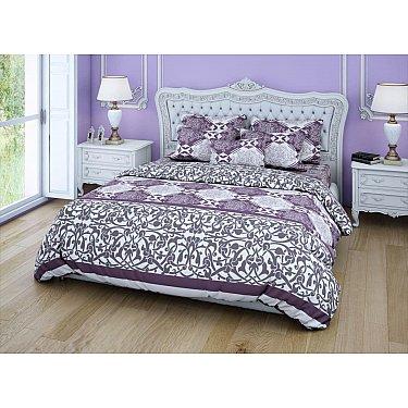 КПБ бязь exclusive Monogramme (1.5 спальный), фиолетовый