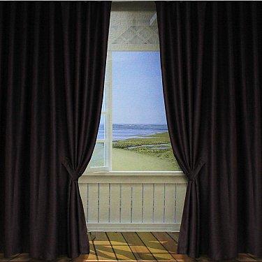 Комплект портьер Amore Mio Блэкаут, коричневый, 200*270 см