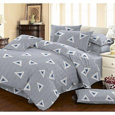 КПБ мако-сатин печатный Terry (1.5 спальный), серый