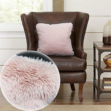 Наволочка декоративная Chinchilla Длинный ворс, розовый, 48*48 см