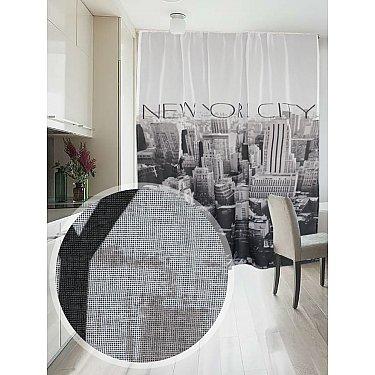 Фотошторы печать лен Amore Mio RR 391, черный, белый, 145*270 см