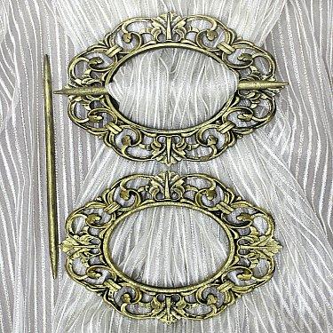 Подхват-заколка MI C2-10 oval, золото