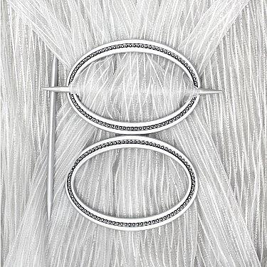 Подхват-заколка MI C6-1 oval, серебро