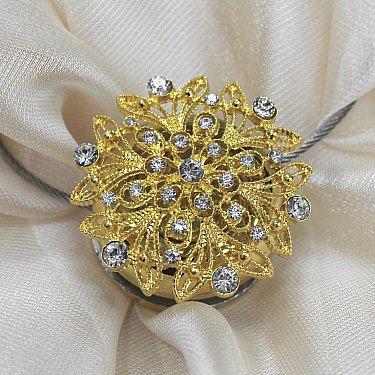 Магнит MI B38- gld tross 25 см, золото со стразами