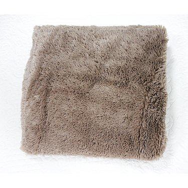 Наволочка декоративная TF Fn072BE-GY Длинный ворс, серо-бежевый, 48*48 см