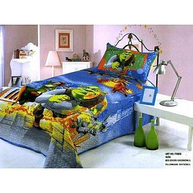 Покрывало детское Cтеганый сатин дизайн 23, 155*200 см