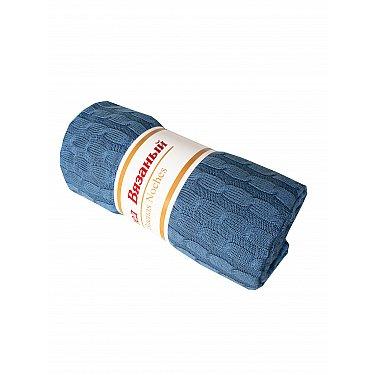 Плед вязаный акрил Buenas Noches Primo, джинсовый, 180*200 см