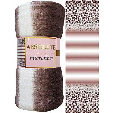 "Плед микрофайбер Absolute ""Полосы"", коричневый, 150*200 см"