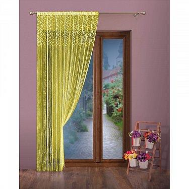 Кисея нитяная штора Ola на кулиске, Желтый, 150*250 см
