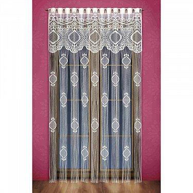 Кисея нитяная штора Wisan на петлях, Кремовый, 150*250 см