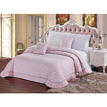 Покрывало стеганое Tulle 03, Розовый, 240*260 см