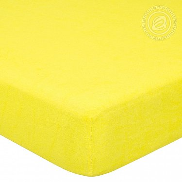 """Простынь махровая на резинке """"Лимон"""""""
