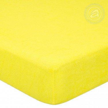 """Простынь махровая на резинке """"Лимон"""", арт. 276, 200*200 см-A"""