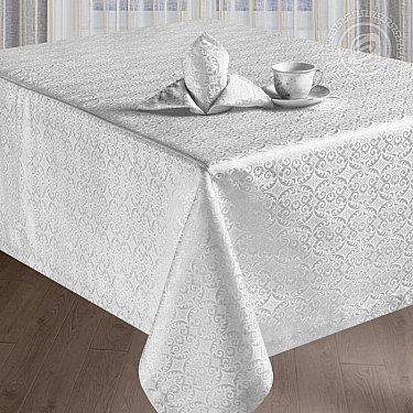 """Скатерть с салфетками """"Марго"""", квадратная, белый, 150*150 см"""
