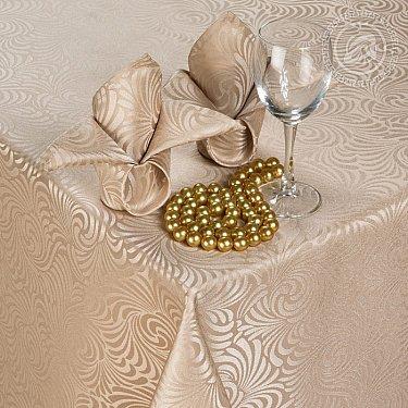 """Скатерть с салфетками """"Версаль"""", шампань, 120*150 см"""