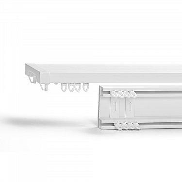 Карниз профильный пластиковый, 2-рядный, белый