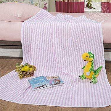 """Одеяло-покрывало трикотажное """"Дорожка розовый"""""""