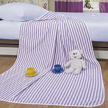 """Одеяло-покрывало трикотажное """"Дорожка сиреневый"""", 100*140 см"""
